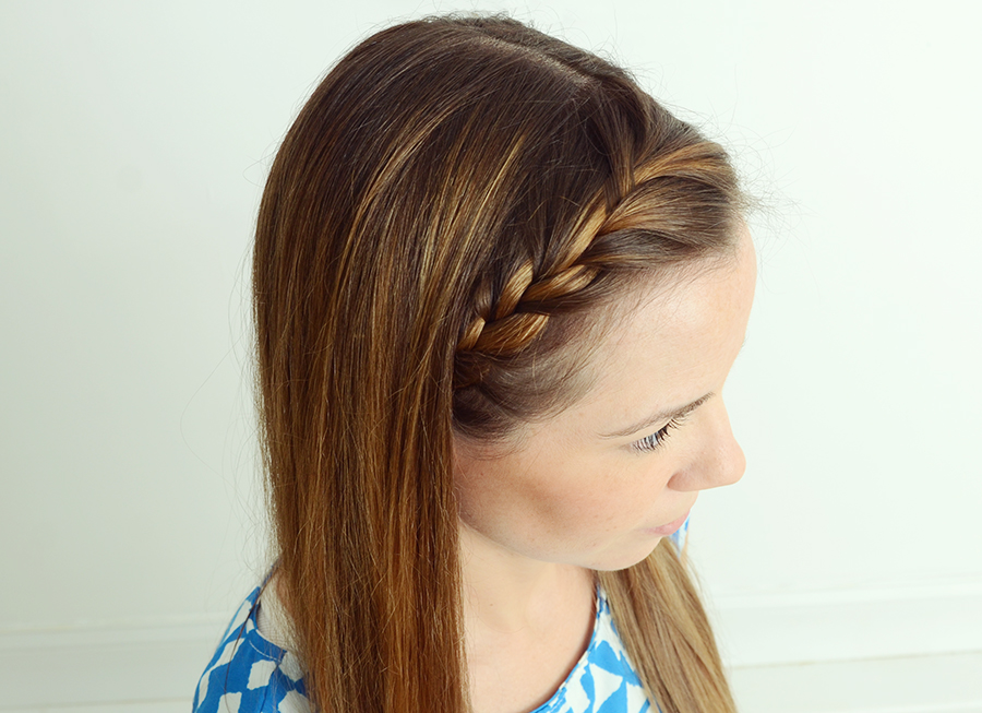 Half Crown French Braid Tutorial