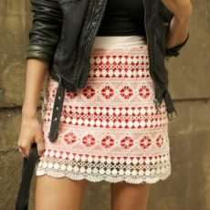 Braid lace skirt