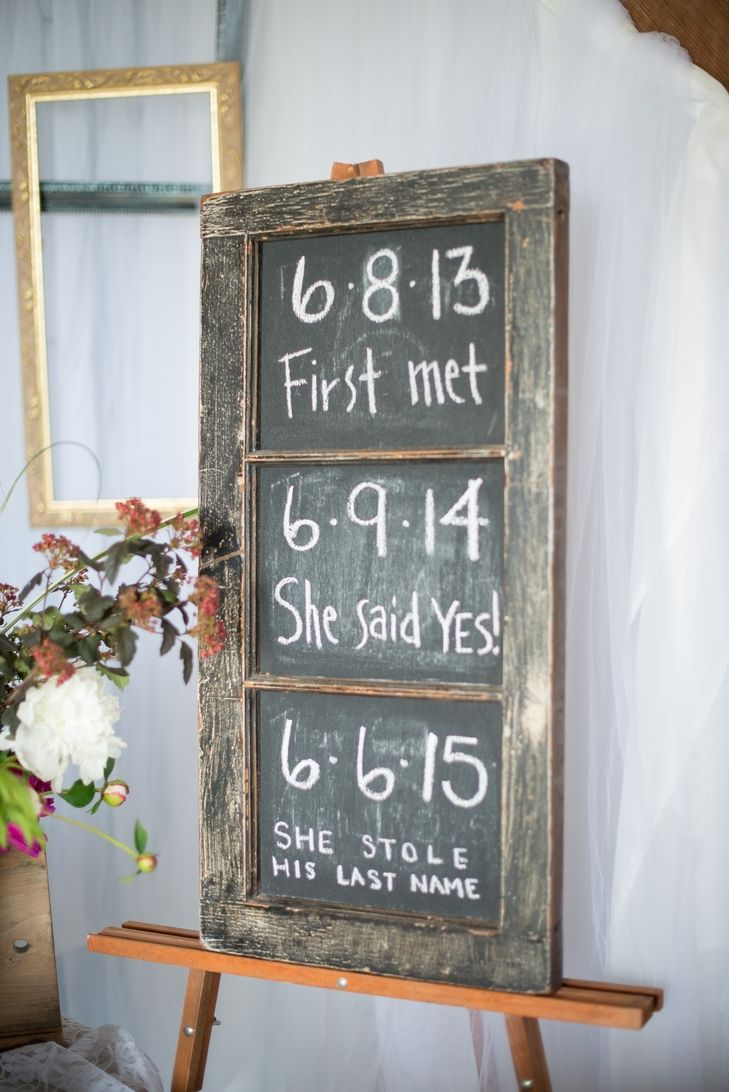 40 diy barn wedding ideas for a country flavored celebration 38 chalkboard romance timeline junglespirit Images