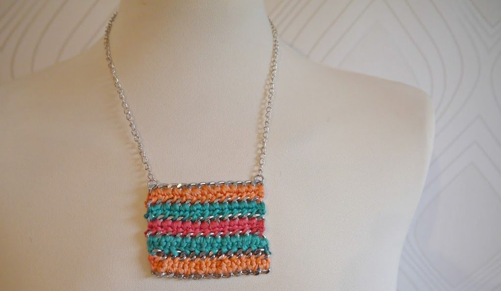 Chrocheted diy necklace