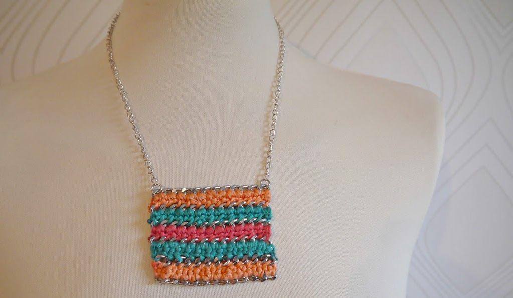 Chrocheted diy necklace