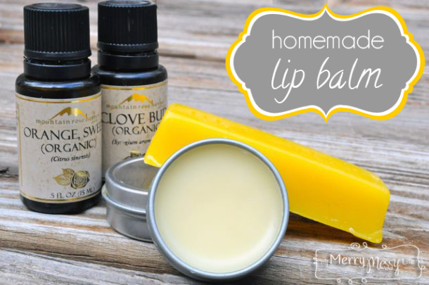Clove and orange lip balm