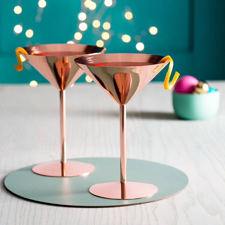 Copper coktail glasses