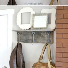 Diy shabby chic decor barn wood shelf1