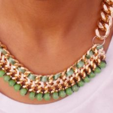 Diy chains and beads necklace