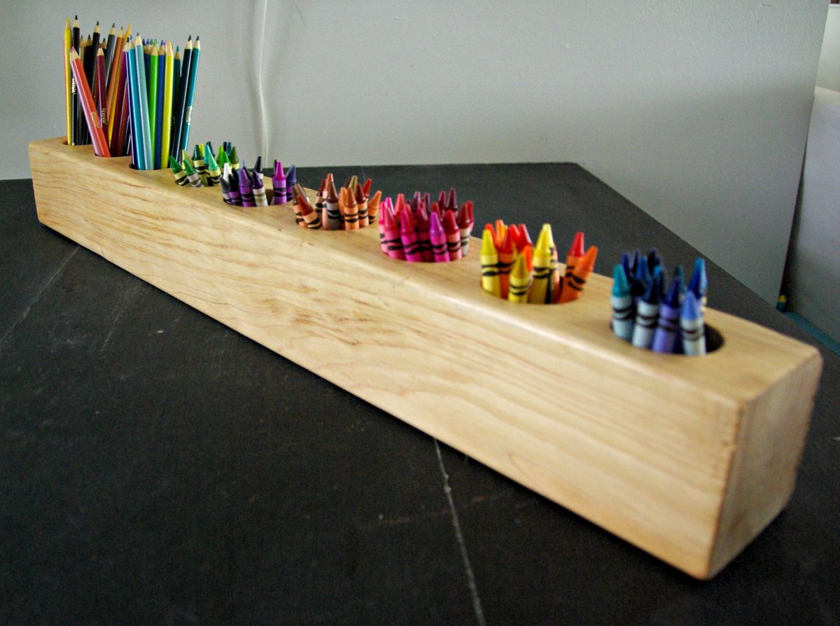 Diy rustic modern art supply holder