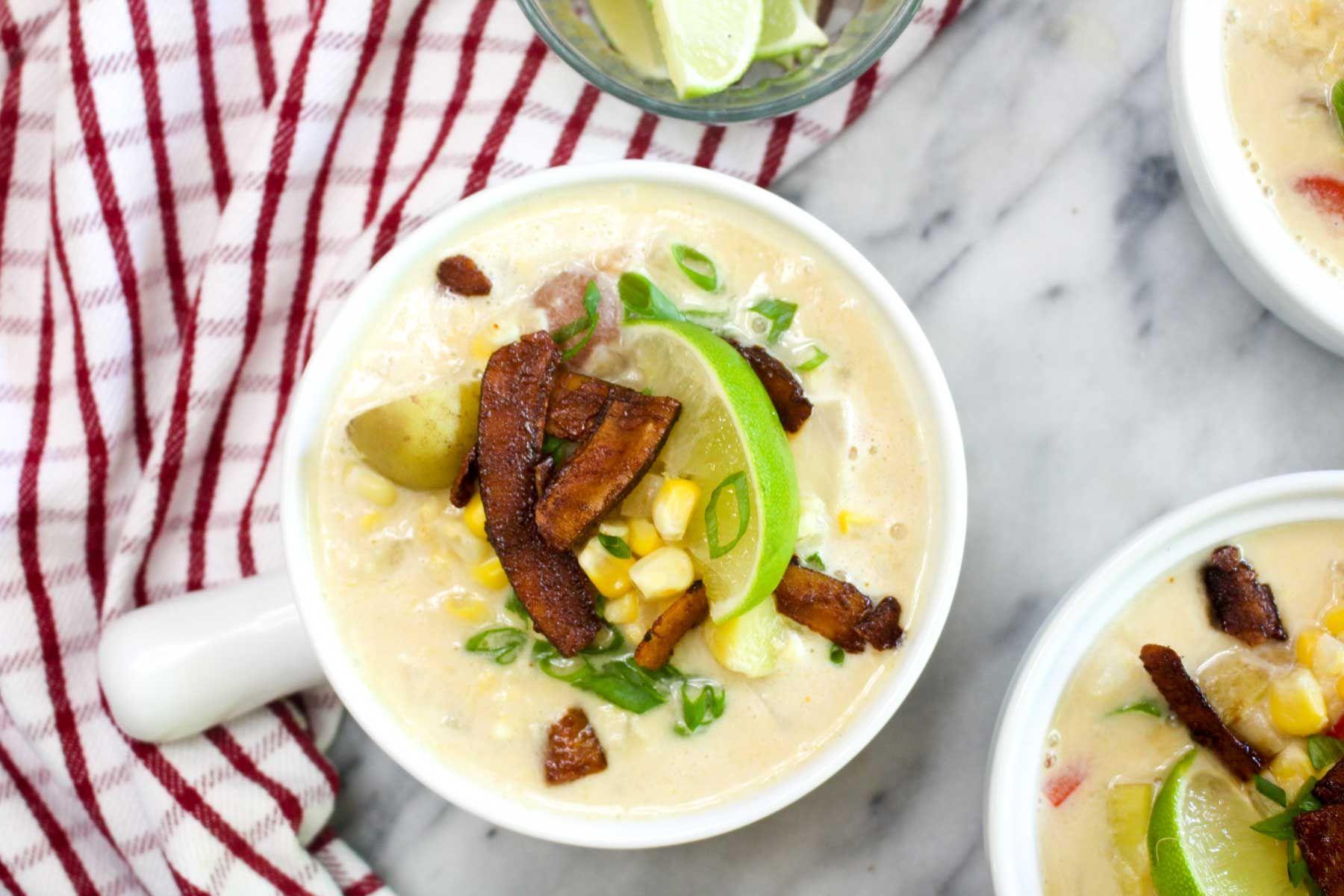 Delicious healthy fresh corn chowder