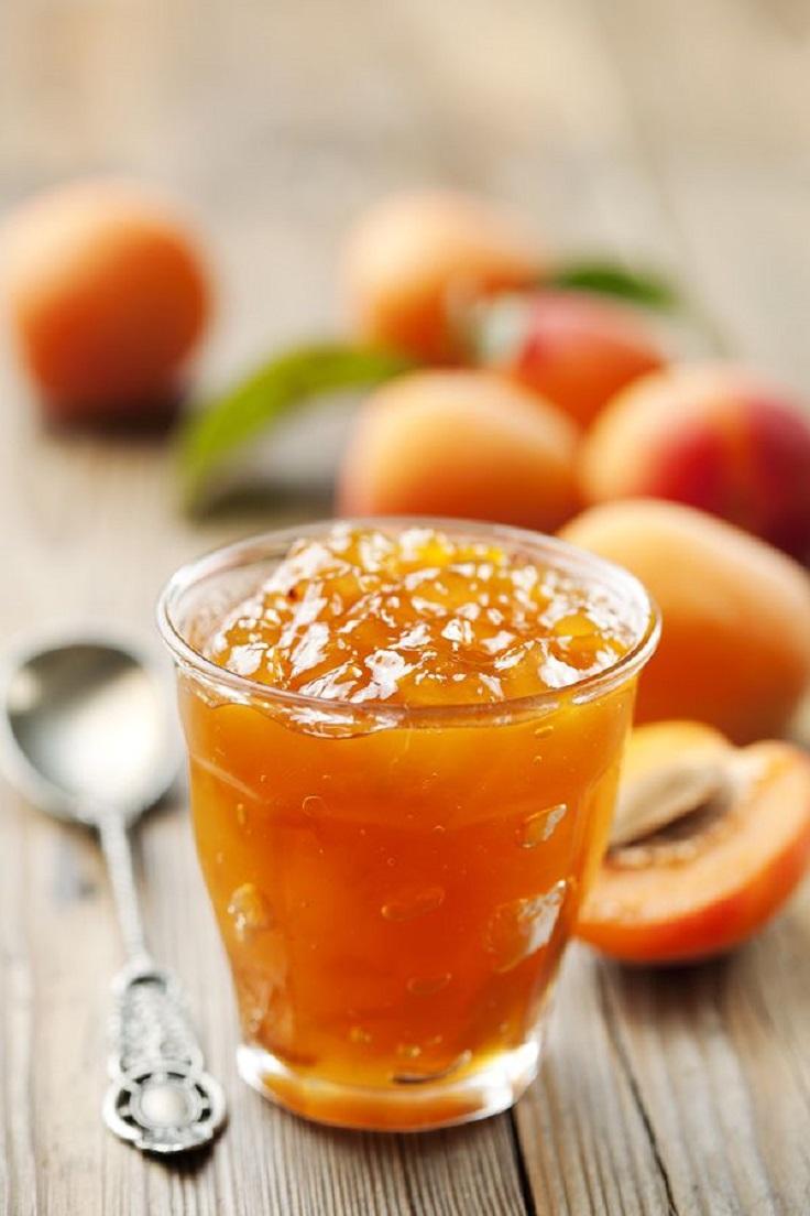 Delicious apricot jam