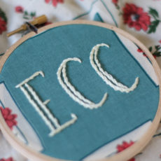 Embroidered initials