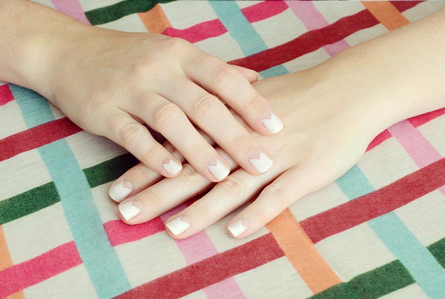 DIY Summer Lovin' Geometric Manicure