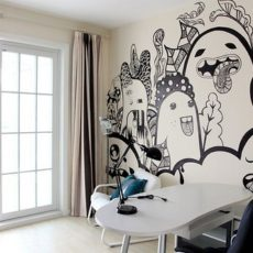 Just In Case You Re Feeling As Adventurous We Have Been With Our Painting Lately Here Are 10 Awesome Wall Designs That Full Of Colour