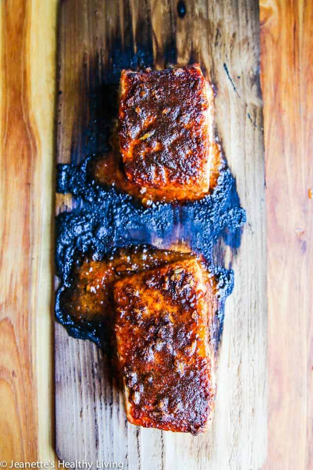 Grilled brazilian rub salmon