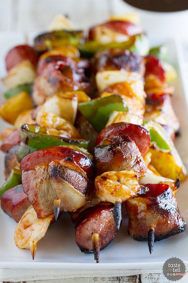 Grilled shrimp sausage kabobs tasteandtellblog com 1
