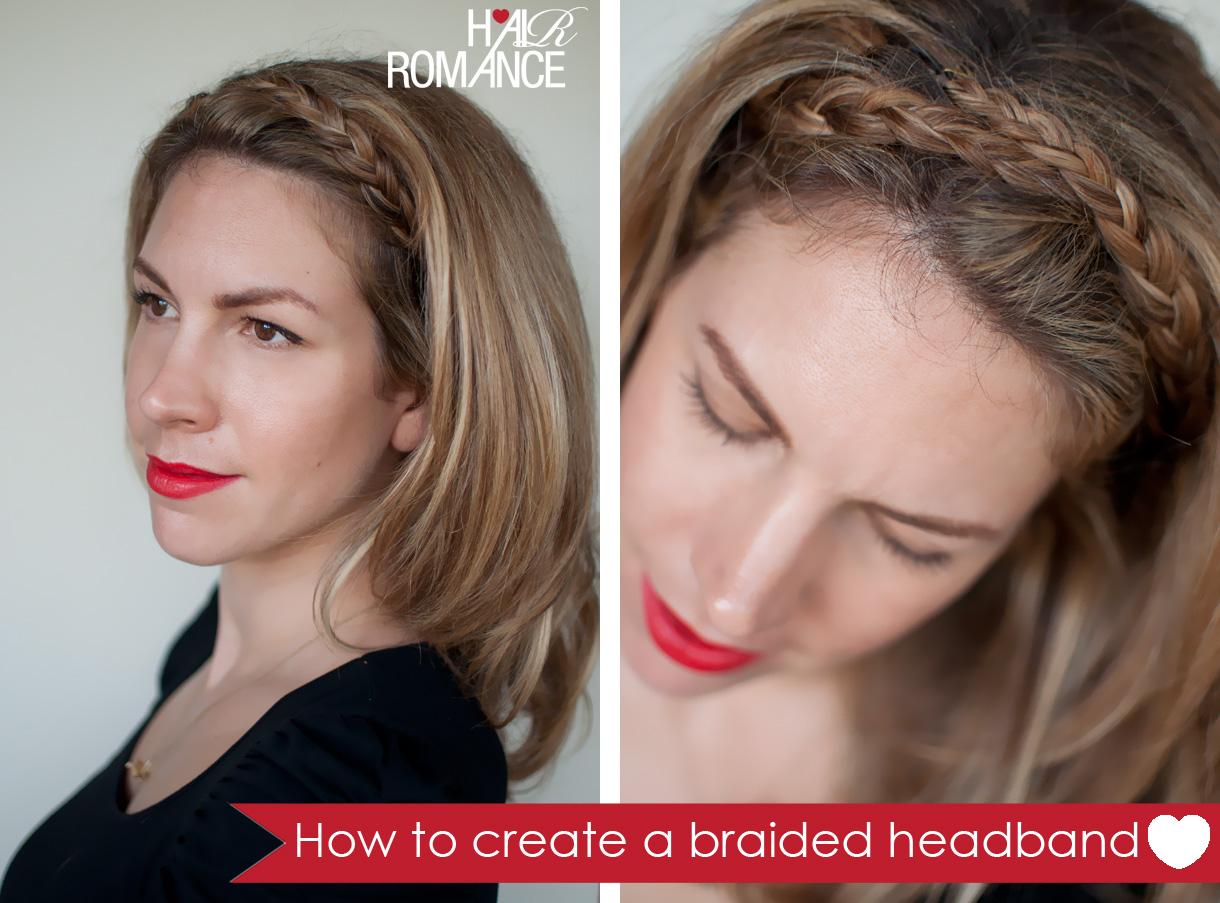 Hair romance braided headband