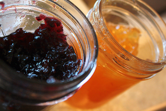 Homemade french plum jam