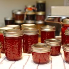 Homemade marmelade jars