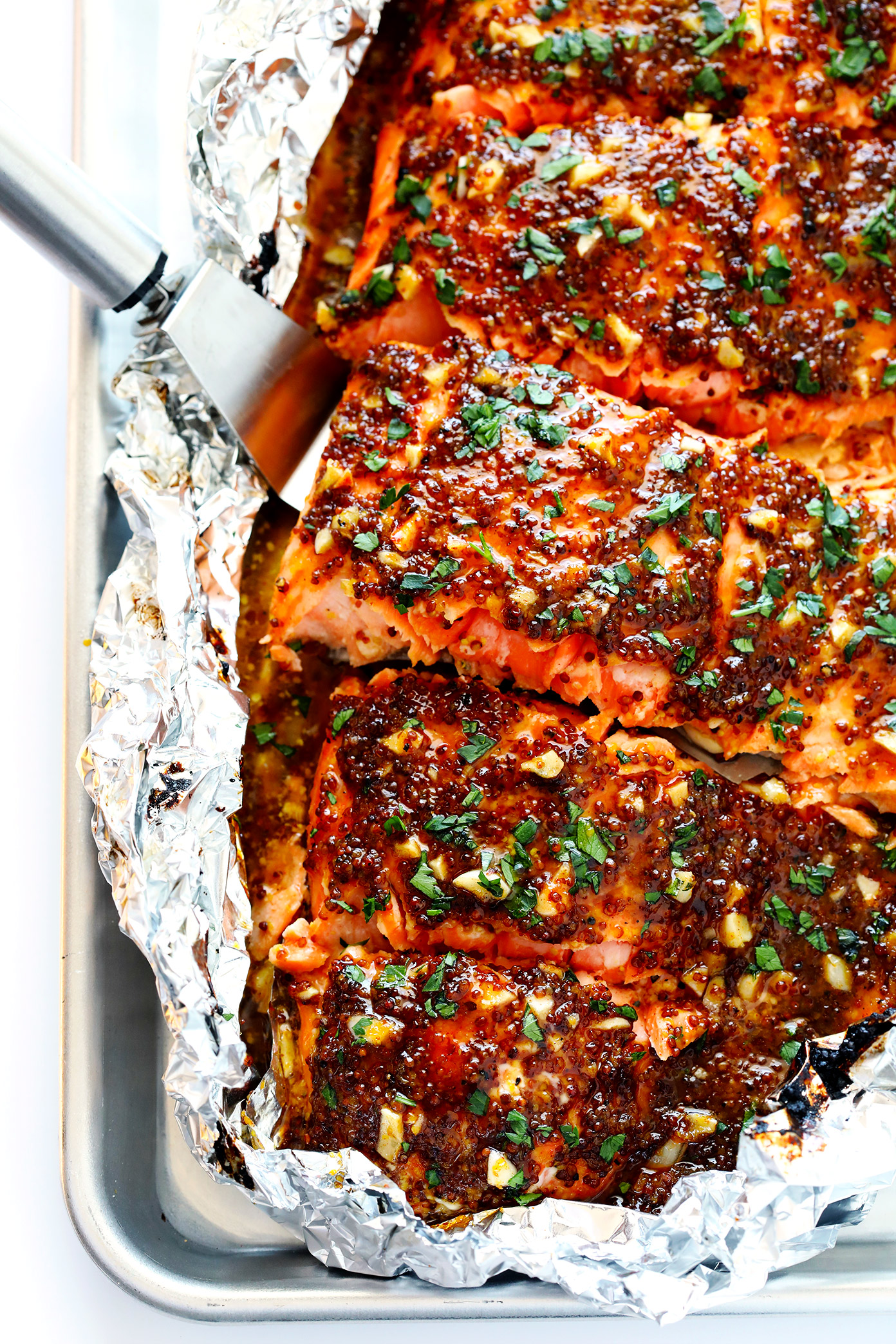 Honey mustard salmon in foil recipe 6 1