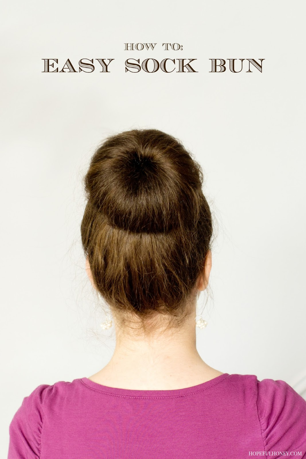 How to easy sock bun
