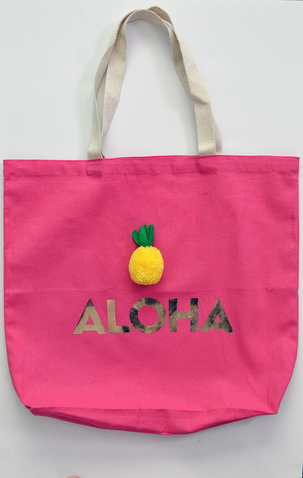 How to make an aloha tote bag carryall