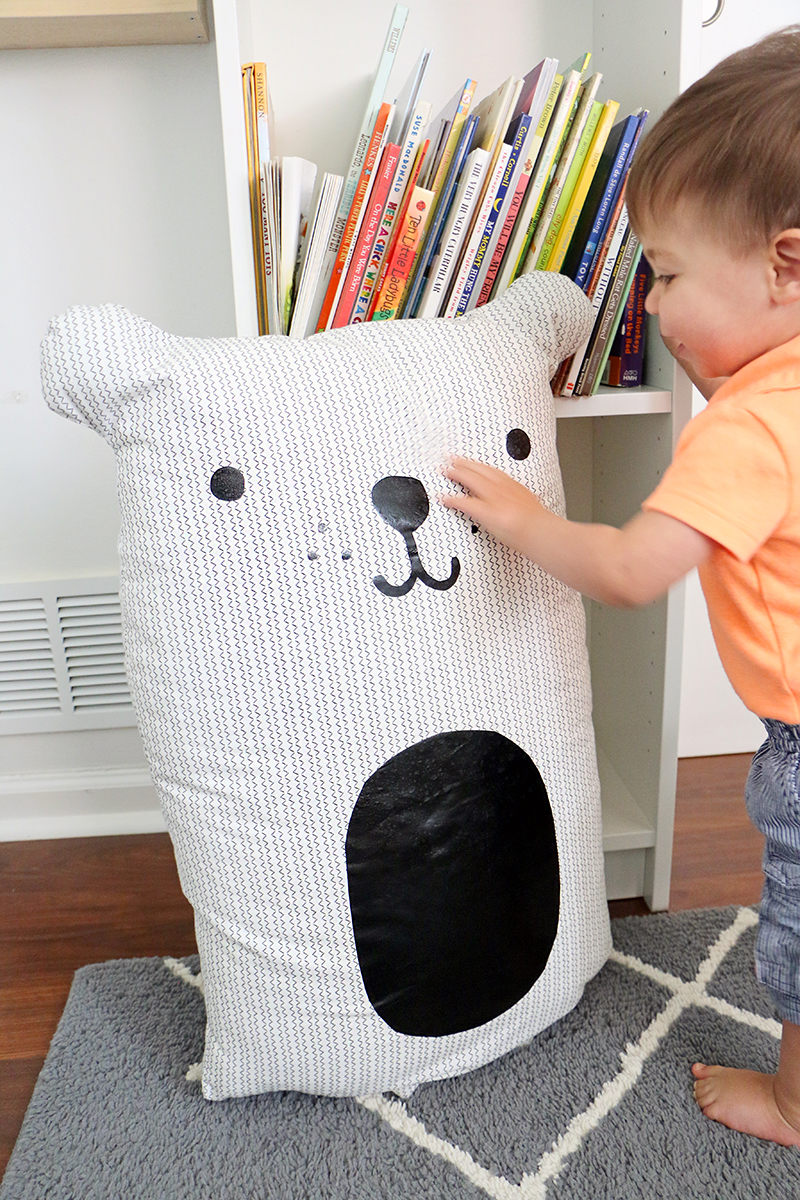 Large bear pillow