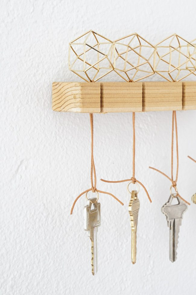 Modern gold key holder