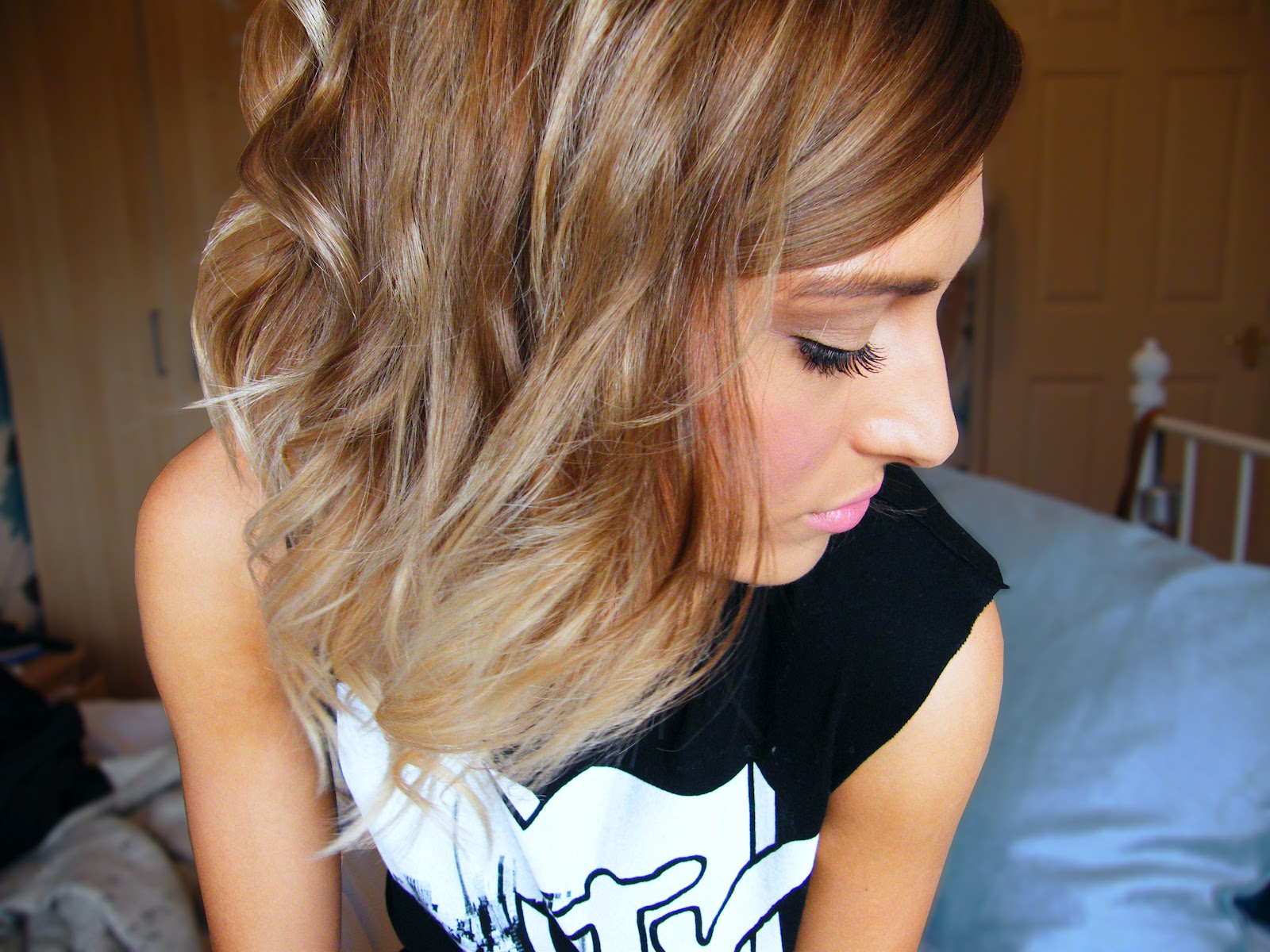 Ombre short hair diy