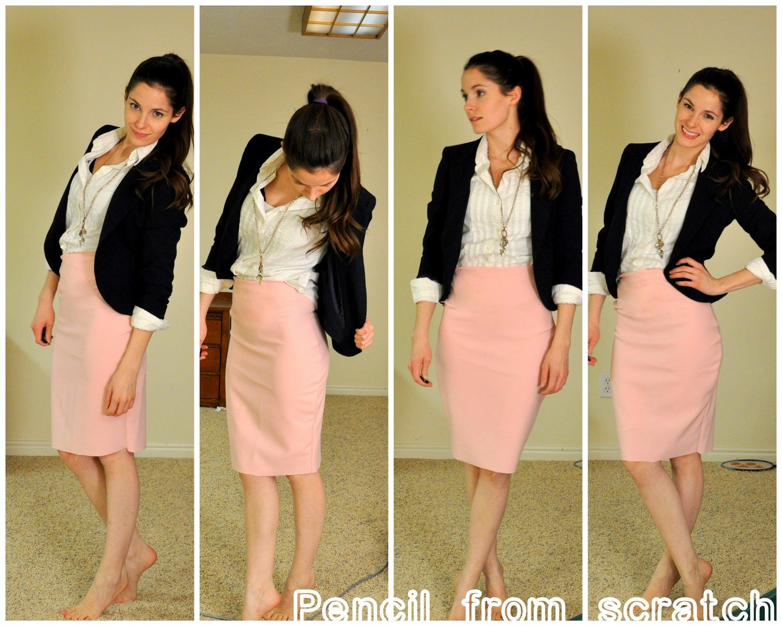 Pale pink summer skirt