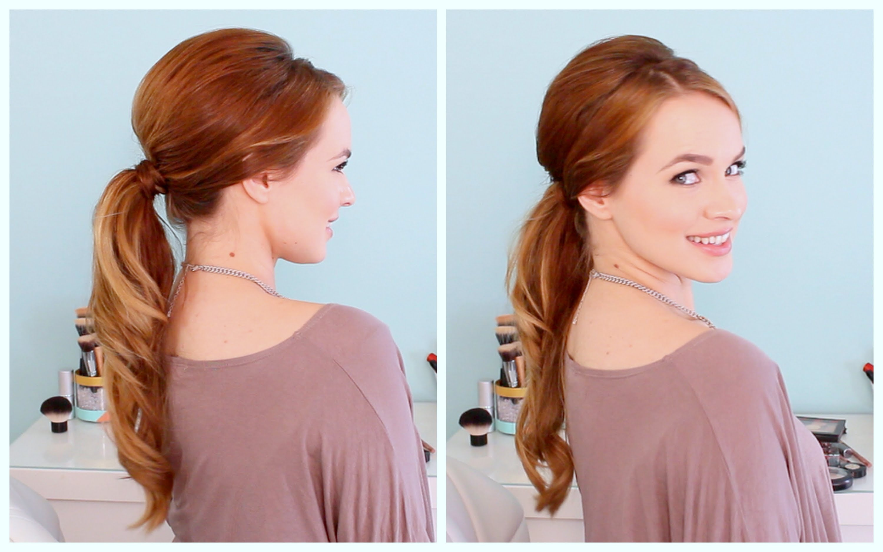 Retro inspired ponytail tutorial