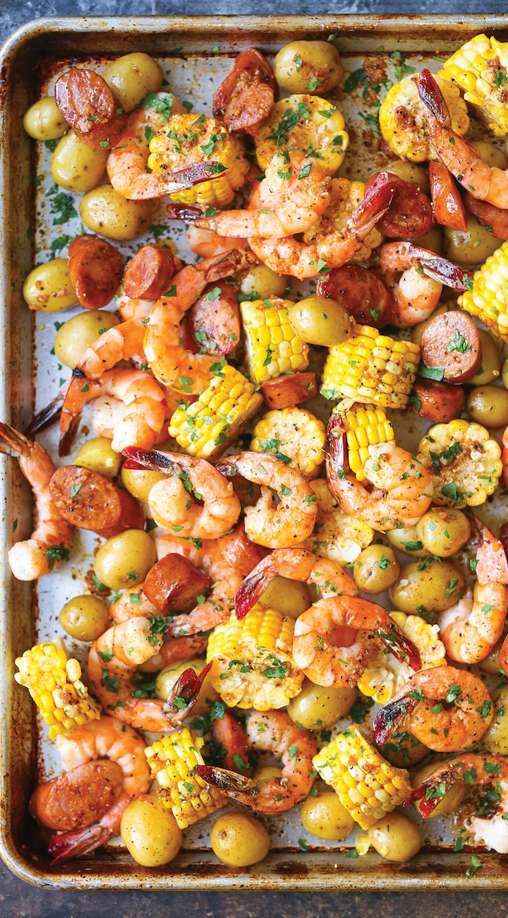 Sheet pan shrimp boil 2