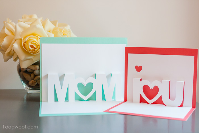Silhouette pop up letters