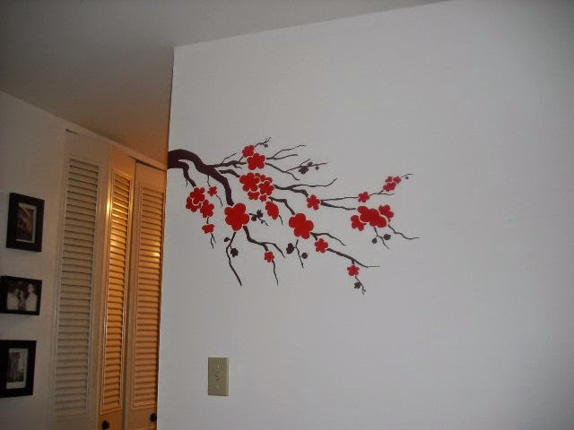 Simple cherry blossom branch