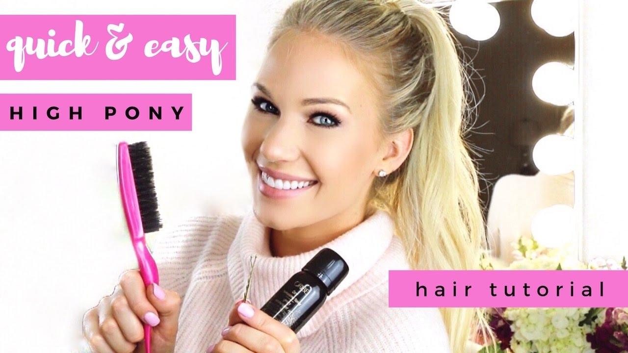 Simple high ponytail tutorial