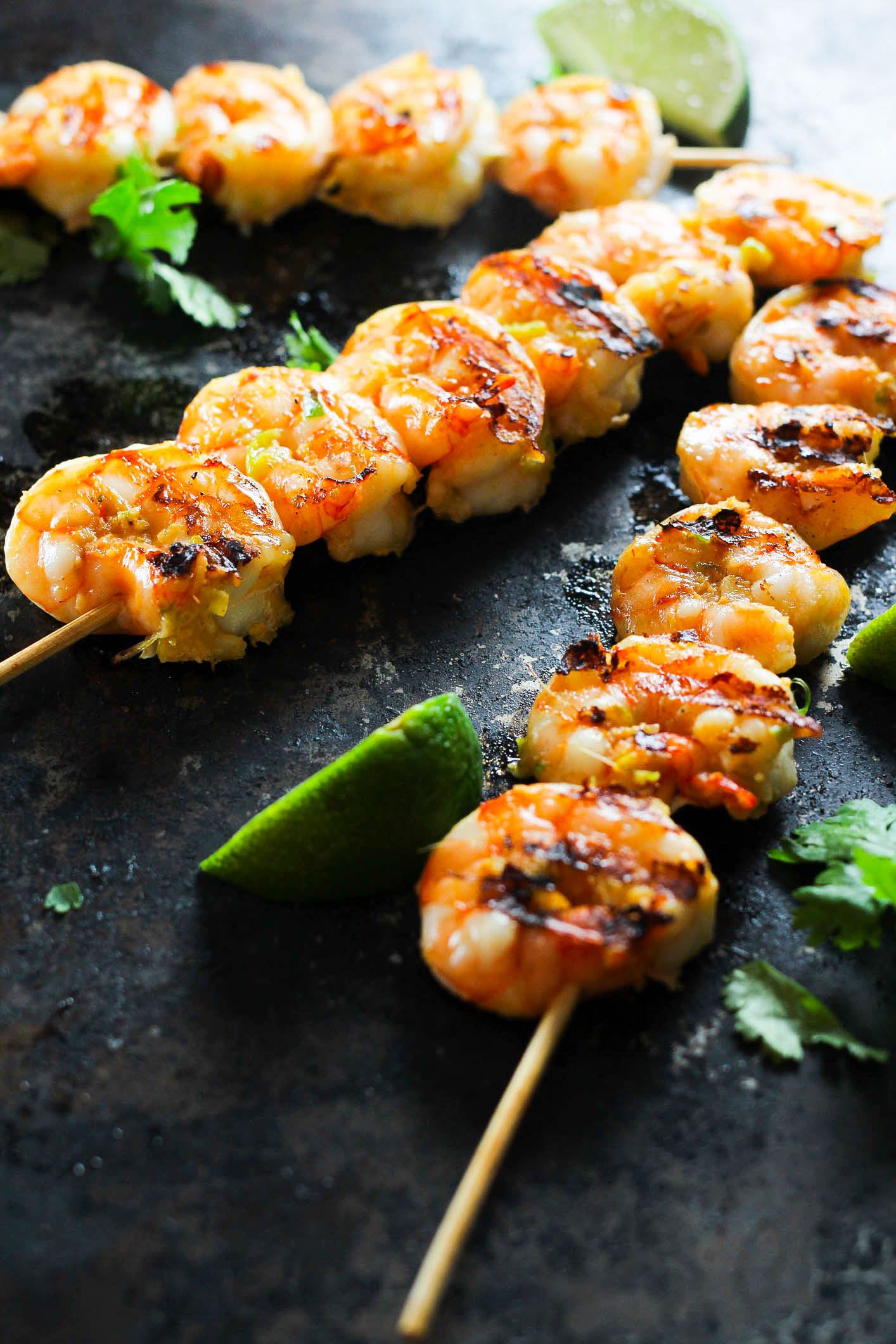 Soy and lime spicy grilled shrimp