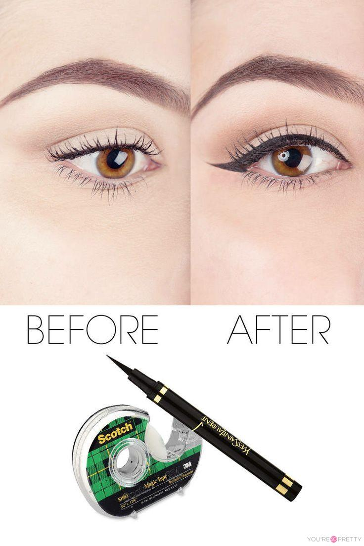 Tape eyeliner tutorial