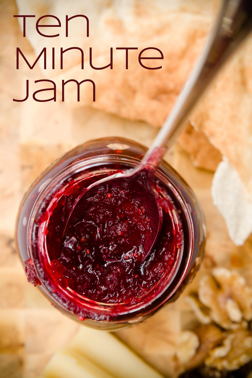 Ten minute tart cranberry jam