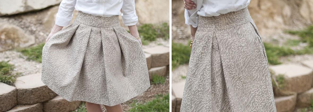 The gilded skirt