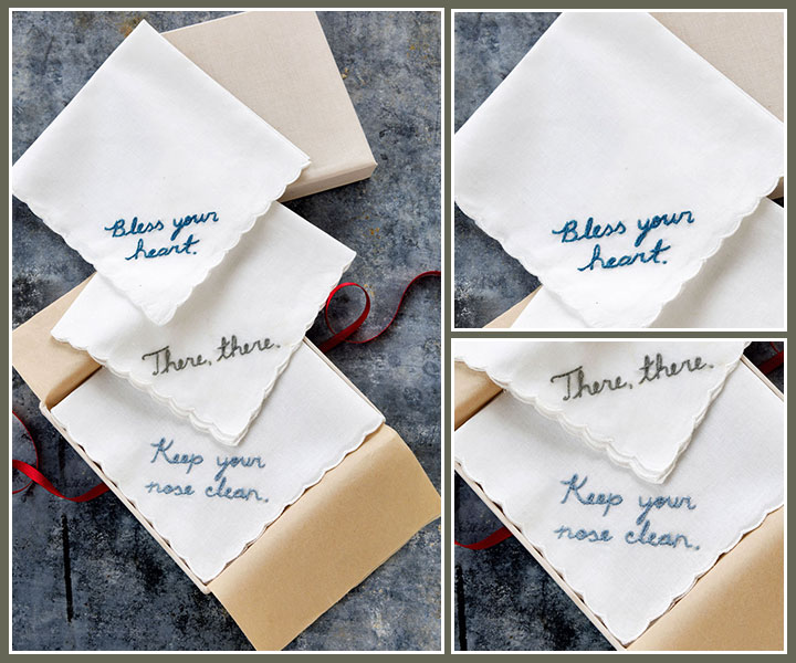 Themed quote handkerchief