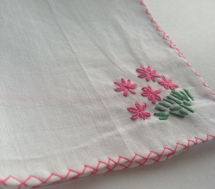 Tiny embroidered flowers