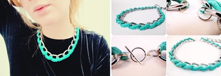 Turquoise chaine necklace
