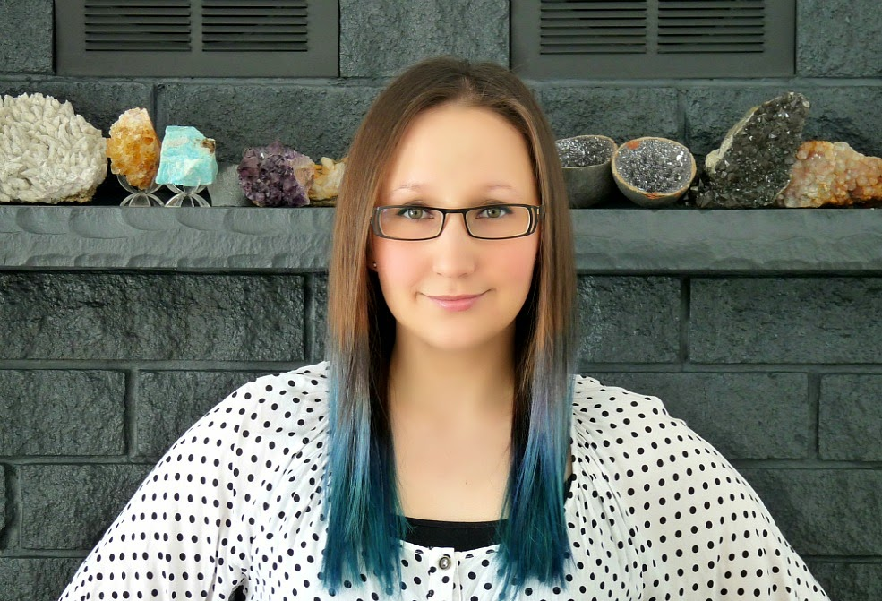 Turquoise and brown hair ombre