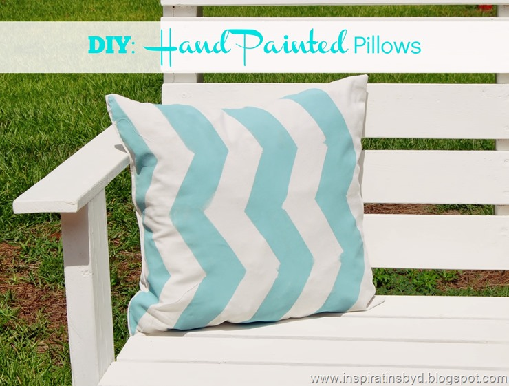 Vertical chevron pillows