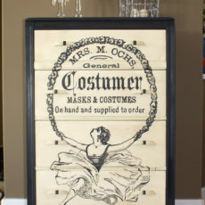 Vintage ballerina graphic dresser