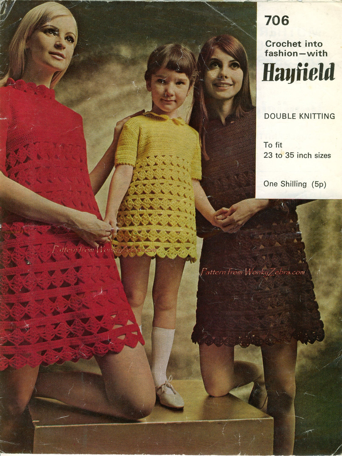 Vintage empire waist mother daughter dresses