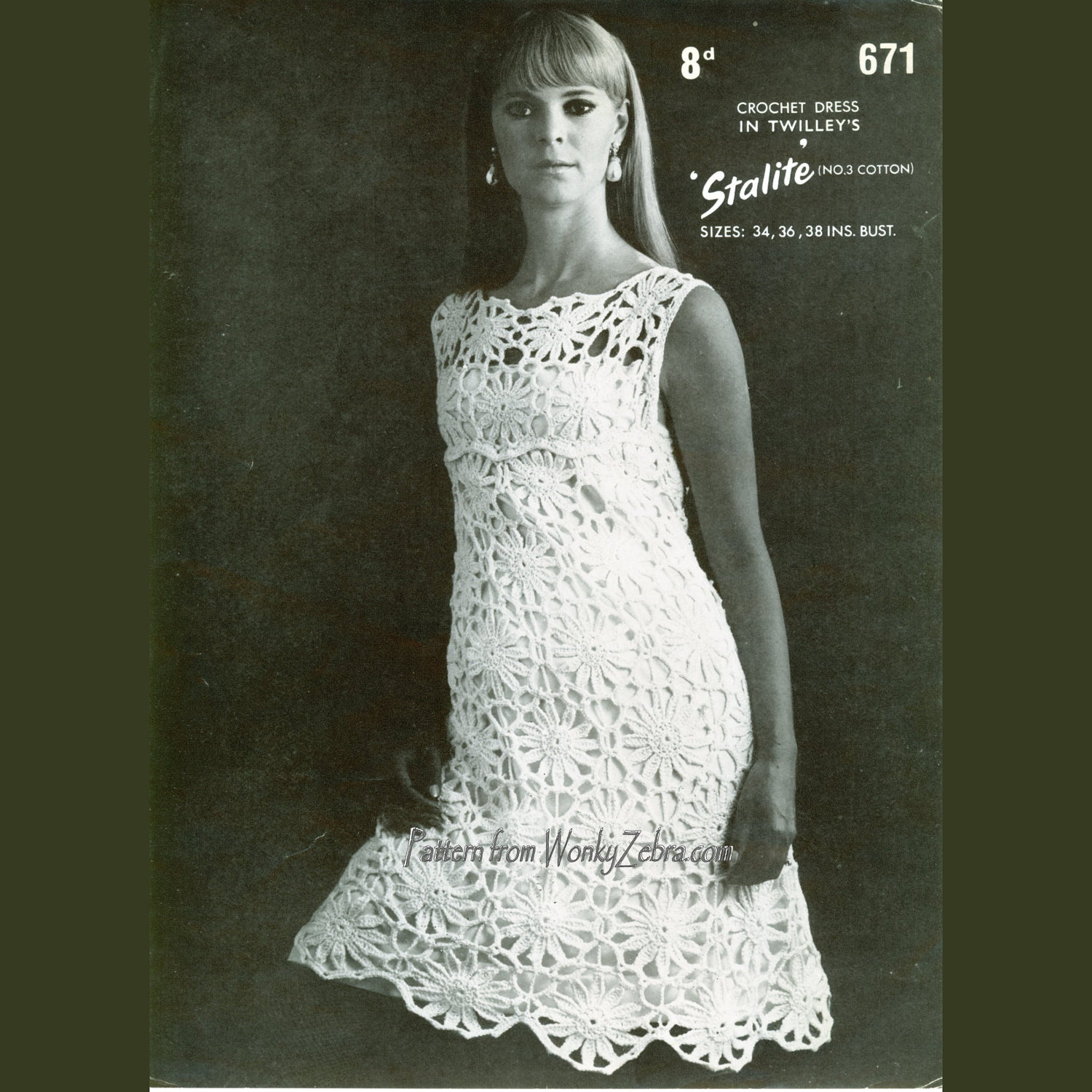Vintage lace crochet dress