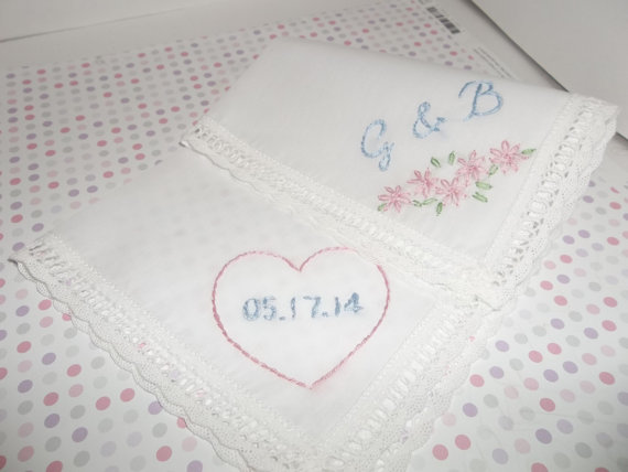 embroidered handkerchiefs wedding ideas wedding date embroidered handkerchiefs diy embroidered handkerchiefs