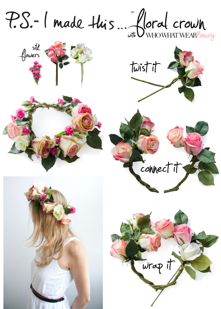 Wire roses flower crown