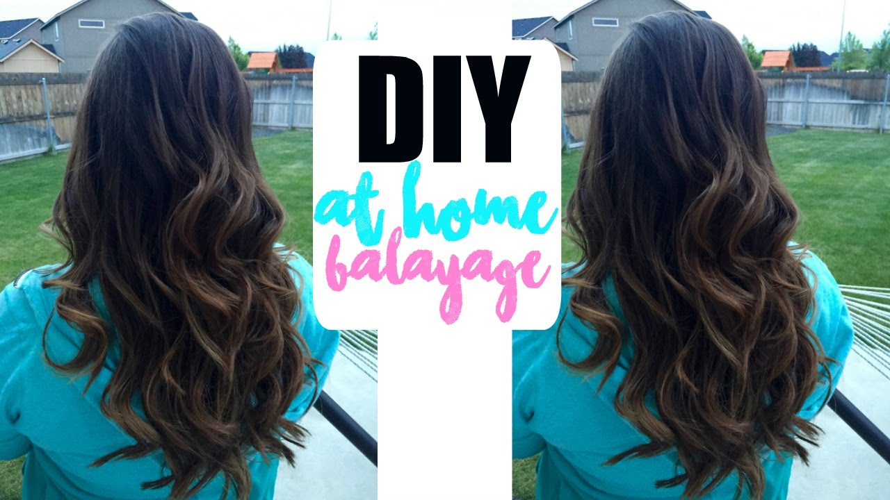 At home balayage for darker hair