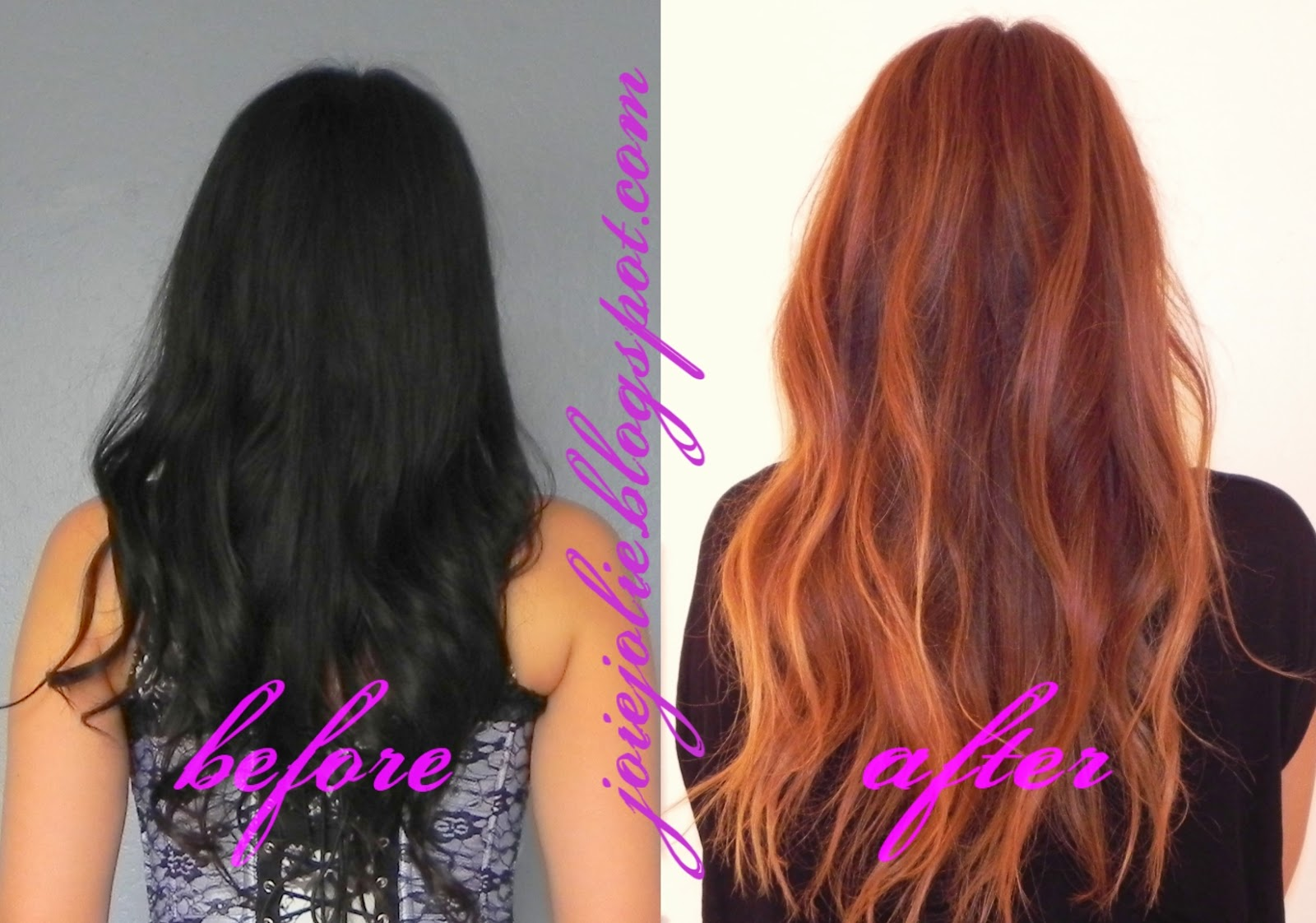 Black and brown balayage hair