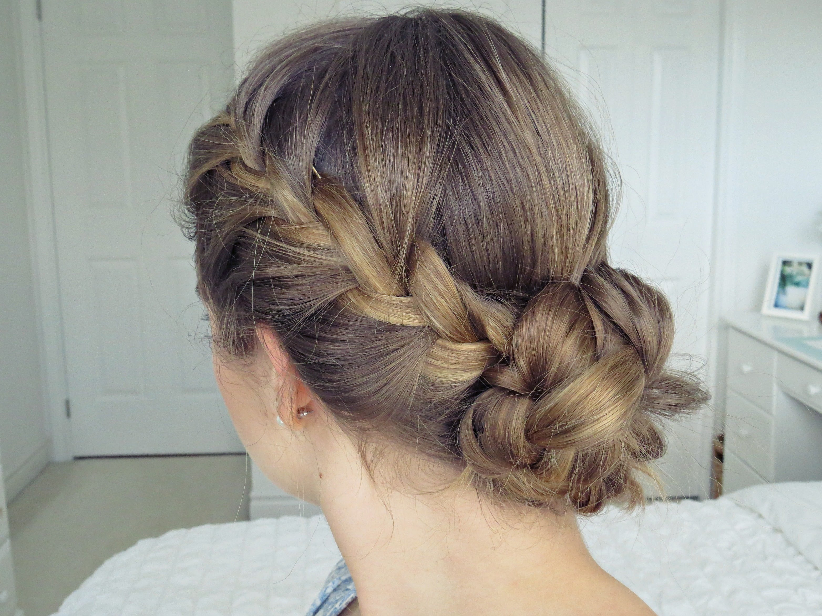 Boho braid bun tutorial