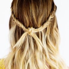 Boho knotted braided hairstyle